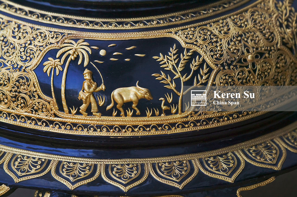 Lacquer ware, details, Kengtung, Myanmar