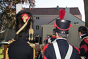 Belgium, Vieux-Genappe near Waterloo on 4th of June 2015. Official reopening of this former  farm, now a museum  where Emperor Napoleon and his staff spent the night of 17th June 1815. The last night before the battle of Waterloo.re-enactors at the farm