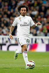 01.03.2015, Estadio Santiago Bernabeu, Madrid, ESP, Primera Division, Real Madrid vs FC Villarreal, 25. Runde, im Bild Marcelo of Real Madrid // during the Spanish Primera Division 25th round match between Real Madrid CF and Villarreal at the Estadio Santiago Bernabeu in Madrid, Spain on 2015/03/01. EXPA Pictures &copy; 2015, PhotoCredit: EXPA/ Alterphotos/ Caro Marin<br /> <br /> *****ATTENTION - OUT of ESP, SUI*****