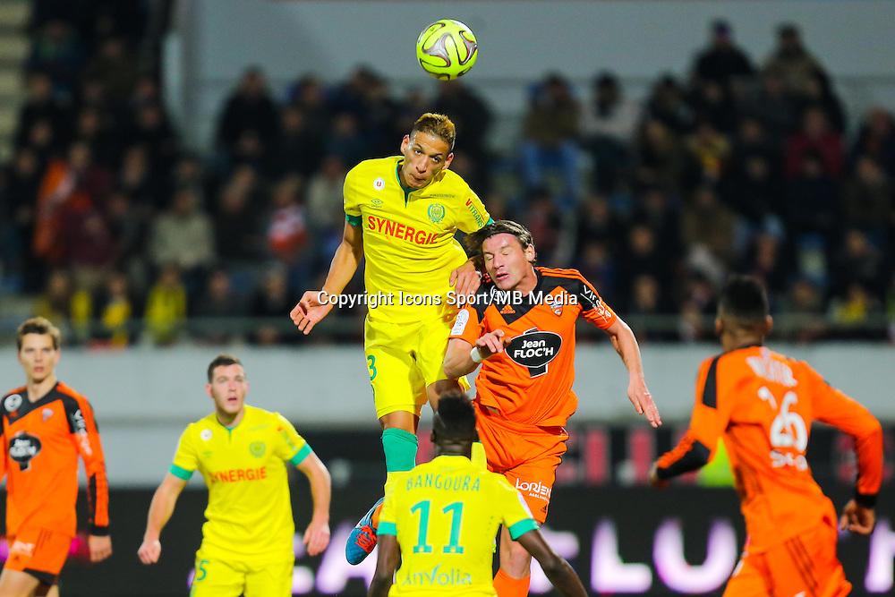 Yacine BAMMOU / Medhi MOSTEFA  - 20.12.2014 - Lorient / Nantes - 19eme journee de Ligue 1 -<br /> Photo : Vincent Michel / Icon Sport