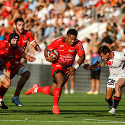 Eneriko Buliruarua of Toulon during the pre-season match between Rc Toulon and Lyon OU at Felix Mayol Stadium on August 17, 2017 in Toulon, France. (Photo by Guillaume Ruoppolo/Icon Sport)