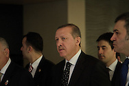 Turkish Prime Minster, Recep Tayyip Erdogan at the Second Conference of the Group of Friends of the Syrian People, held in Istanbul, Turkey on April the 1st 2012. Bradley Secker / ENN