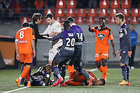 Dominique ARRIBAGE / Alexandre CASTRO - 18.04.2015 - Lorient / Toulouse - 33eme journee de Ligue 1<br />
