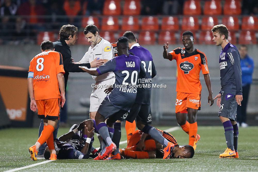 Dominique ARRIBAGE / Alexandre CASTRO - 18.04.2015 - Lorient / Toulouse - 33eme journee de Ligue 1<br />Photo : Vincent Michel / Icon Sport