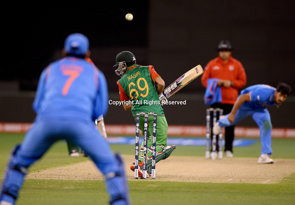 Nasir Hossian (Bang)<br /> India vs Bangladesh / Qtr Final 2<br /> 2015 ICC Cricket World Cup<br /> MCG / Melbourne Cricket Ground <br /> Melbourne Victoria Australia<br /> Thursday 19 March 2015<br /> &copy; Sport the library / Jeff Crow