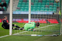 Vid Belec of Slovenia during friendly football match between National teams of Slovenia and Belarus, on March 27, 2018 in SRC Stozice, Ljubljana, Slovenia. Photo by Urban Urbanc / Sportida