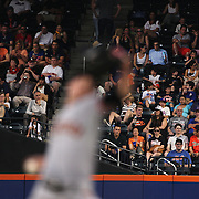 Pitcher Tim Lincecum, San Francisco Giants, pitching during the New York Mets Vs San Francisco Giants MLB regular season baseball game at Citi Field, Queens, New York. USA. 11th June 2015. Photo Tim Clayton