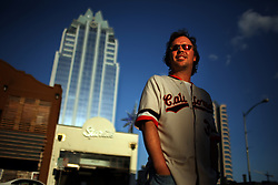 Portrait of comedian Doug Stanhope in downtown Austin, Texas on Aug. 3, 2008. Stanhope will be performing at the Edinburgh Festival.