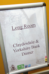 Pictured is the welcome area to the event<br /> <br /> Clydesdale and Yorkshire Bank food and the world dinner held at Lincoln Hotel as part of the bank's business week.  Promar International divisional director John Giles was the guest speaker at the event.<br /> <br /> Date: November 12, 2015<br /> Picture: Chris Vaughan/Chris Vaughan Photography