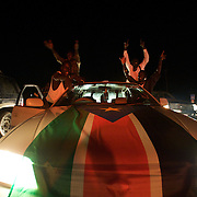 Southern Sudanese celebrate the first hours of independence in the streets of Juba.