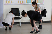 TAIYUAN, CHINA - MARCH 23: (CHINA OUT) <br /> <br /> Hainan Airlines Search For Beauties<br /> <br /> Students take part in the recruitment interview of Hainan Airlines on March 23, 2014 in Taiyuan, Shangxi Province of China. <br /> ©Exclusivepix