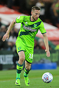 Norwich City midfielder Marco Stiepermann (18) in action  during the EFL Sky Bet Championship match between Middlesbrough and Norwich City at the Riverside Stadium, Middlesbrough, England on 30 March 2019.