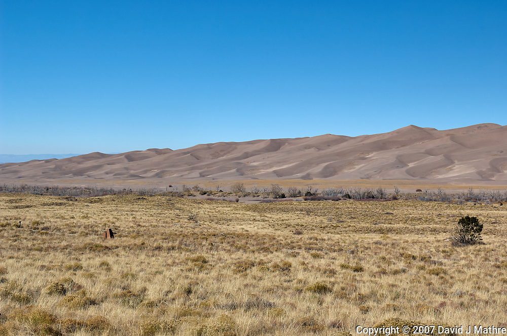 Great Sand Dunes National Park. Panorama (2 of 7). Image taken with a Nikon D2xs camera and 17-35 mm f/2.8 zoom lens (ISO 100, 35 mm, f/11, 1/125 sec).