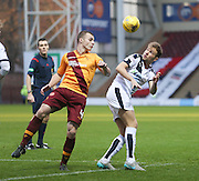 Motherwell&rsquo;s Liam Grimshaw and Dundee&rsquo;s Greg Stewart - Motherwell v Dundee - Ladbrokes Premiership at Fir Park<br /> <br /> <br />  - &copy; David Young - www.davidyoungphoto.co.uk - email: davidyoungphoto@gmail.com