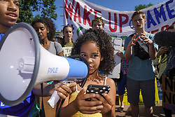 May 24, 2019 , Washington, District of Columbia, U.S : Students march from the White House to the U.S. Supreme Court to support the Green New Deal and pass the Climate Change Education Act. Students from around the world are marching for climate change awareness today. (Credit Image: © Leigh VogelZUMA Wire)