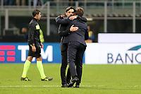 01.10.2017 - Milano  Serie A 7a   giornata  -  Milan-Roma  nella  foto: Eusebio Di Francesco  e Vincenzo Montella si salutano  a fine partita