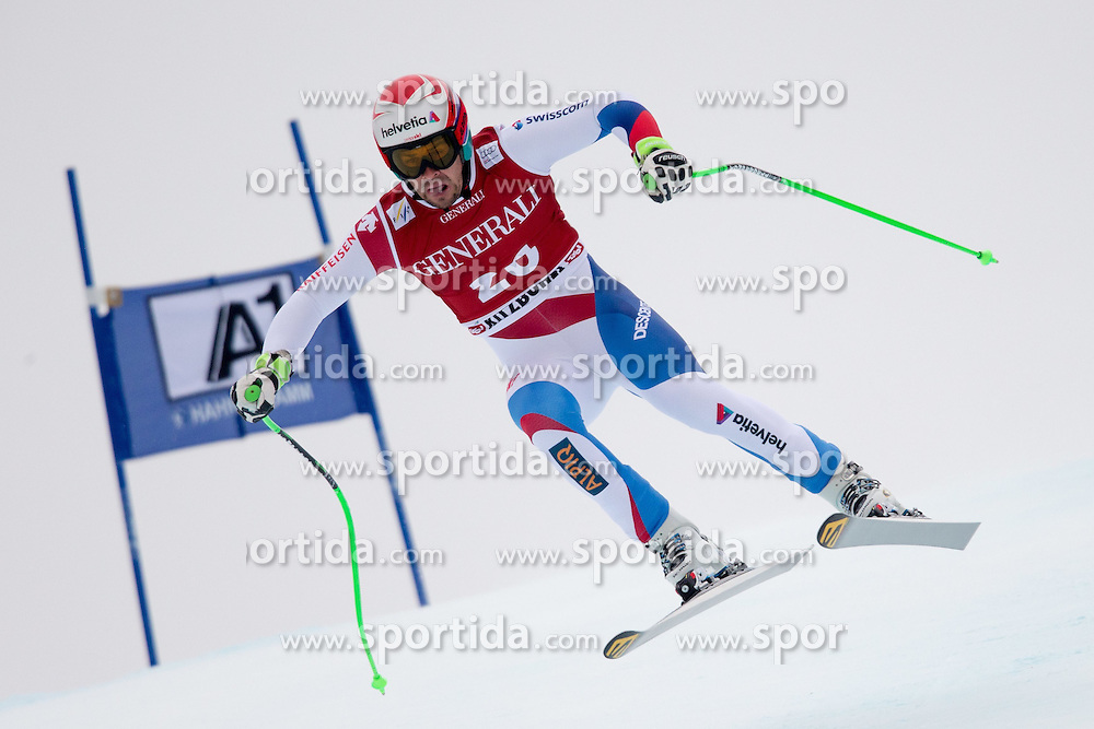 23.01.2015, Streif, Kitzbuehel, AUT, FIS Ski Weltcup, Supercombi Super G, Herren, im Bild Sandro Viletta (SUI) // Sandro Viletta of Switzerland in action during the men's Super Combined Super-G of Kitzbuehel FIS Ski Alpine World Cup at the Streif Course in Kitzbuehel, Austria on 2015/01/23. EXPA Pictures © 2015, PhotoCredit: EXPA/ Johann Groder