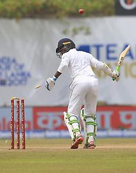 July 29, 2017 - Galle, Sri Lanka - Sri Lankan cricketer Upul Tharanga is bowled out during the 4th Day's play in the 1st Test match between Sri Lanka and India at the Galle cricket stadium, Galle, Sri Lanka on Saturday 29 July 2017. (Credit Image: © Tharaka Basnayaka/NurPhoto via ZUMA Press)