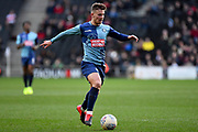 Wycombe Wanderers midfielder Dominic Gape (4) sprints forward with the ball during the EFL Sky Bet League 1 match between Milton Keynes Dons and Wycombe Wanderers at stadium:mk, Milton Keynes, England on 1 February 2020.