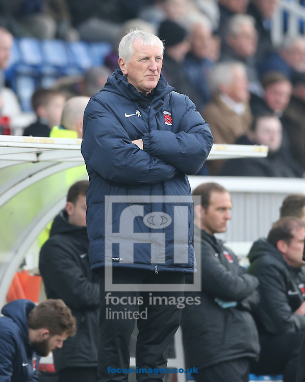 Hartlepool United manager Ronnie Moore during the Sky Bet League 2 match at Victoria Park, Hartlepool<br /> Picture by Simon Moore/Focus Images Ltd 07807 671782<br /> 14/02/2015