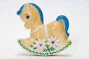 a little plastic rocking horse toy
