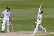 Craig Overton (Somerset County Cricket Club) in action during the LV County Championship Div 1 match between Durham County Cricket Club and Somerset County Cricket Club at the Emirates Durham ICG Ground, Chester-le-Street, United Kingdom on 8 June 2015. Photo by George Ledger.