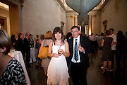 CHARLES MACBETH; CAROLINE MACBETH, Tate Summer Party. Celebrating the opening of the  Fiona Banner. Harrier and Jaguar. Tate Britain. Annual Duveens Commission 29 June 2010. -DO NOT ARCHIVE-© Copyright Photograph by Dafydd Jones. 248 Clapham Rd. London SW9 0PZ. Tel 0207 820 0771. www.dafjones.com.