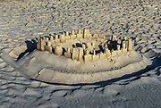 Sand castle, Cape Cod, Massachusetts, USA
