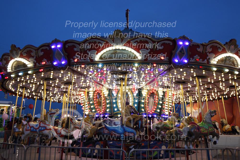 07 August 2015:   McLean County Fair - Merry-go-round