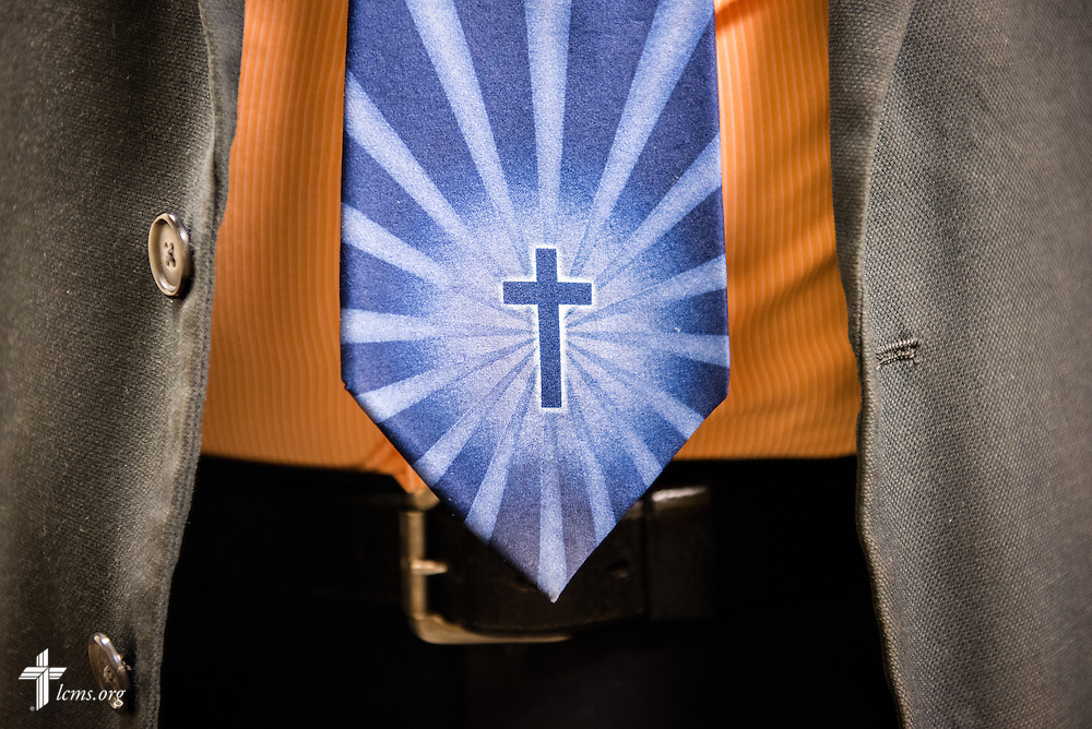 The tie of the Rev. Doug Nicely, chaplain at Memorial Hospital in Belleville, Ill., on Monday, Jan. 12, 2015. LCMS Communications/Erik M. Lunsford