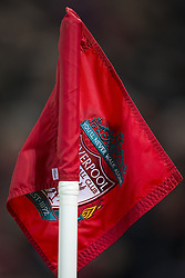 Halbfinale im Liga-Pokal Liverpool vs Leeds 1:0 in Liverpool / 291116<br /> <br /> ***LIVERPOOL, ENGLAND 29TH NOVEMBER 2016:<br /> A corner flag is seen during the English League Cup soccer match between Liverpool and Leeds at Anfield Stadium in Liverpool England November 29th 2016***