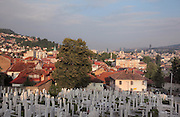 Alifacovac Cemetery, dating to before the Ottoman empire, in the Alifacovac district, one of the oldest parts of the city, Sarajevo, Bosnia and Herzegovina. Picture by Manuel Cohen