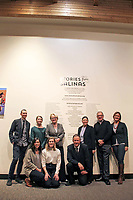 The David and Lucile Packard Foundation team pose with photographer Jay Dunn, at right in front, at the December 5th opening of the Stories from Salinas exhibition at the CSUMB Salinas Center for Arts and Culture in Oldtown. The exhibition celebrates the mentors, youth and families of the Salinas Youth Initiative.
