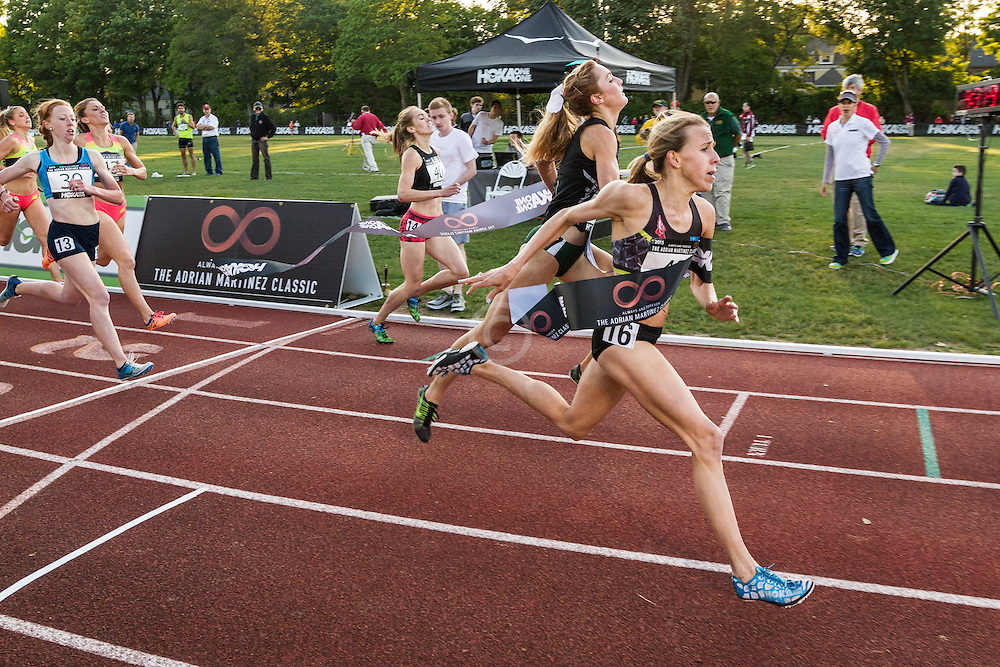 Adrian Martinez Classic track meet, Women's High Performance Adro Mile, Nicole Tully wins