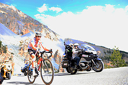 Polka Dot Jersey Warren Barguil (FRA) Team Sunweb climbs through the Caisse Deserte on Col d'Izoard during Stage 18 of the 104th edition of the Tour de France 2017, running 179.5km from Briancon to the summit of Col d'Izoard, France. 20th July 2017.<br /> Picture: Eoin Clarke | Cyclefile<br /> <br /> All photos usage must carry mandatory copyright credit (© Cyclefile | Eoin Clarke)