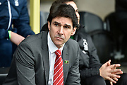 Nottingham Forest manager Aitor Karanka during the EFL Sky Bet Championship match between Burton Albion and Nottingham Forest at the Pirelli Stadium, Burton upon Trent, England on 17 February 2018. Picture by Richard Holmes.
