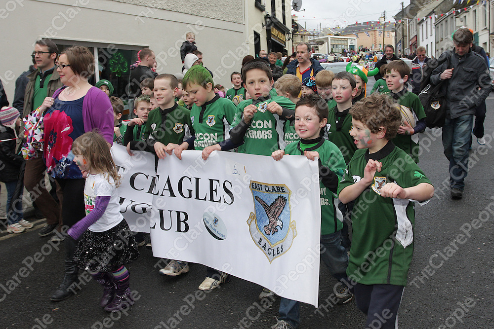 The East Clare Eagles parade in Tulla. - Photograph by Flann Howard