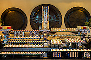 DUBAI, UAE - DECEMBER 18, 2015: Healthy food corner at the Arboretum restaurant, located in Jumeirah Al Qasr, Madinat Jumeirah Resort.