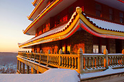 Pagoda, Reading, PA in early morning snow.