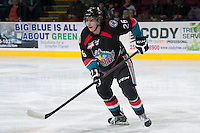 KELOWNA, CANADA - NOVEMBER 6: Cole Linaker #26 of the Kelowna Rockets skates on the ice against the Red Deer Rebels on NOVEMBER 6, 2013 at Prospera Place in Kelowna, British Columbia, Canada.   (Photo by Marissa Baecker/Shoot the Breeze)  ***  Local Caption  ***  Cole Linaker;