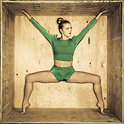 UVU Dance team members in a wooden box in Will's Studio for this years dance poster on the campus of Utah Valley University in Orem , Utah, Wednesday, Feb. 3, 2016. (August Miller, UVU Marketing)
