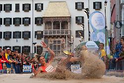 30.05.2015, Altstadt, Innsbruck, AUT, Golden Roof Challenge, Weitsprung Frauen, im Bild Hryshutyna Krystyna (UKR) // Hryshutyna Krystyna of Ukraine in action during Women´s long jump at Golden Roof Challenge in Innsbruck, Austria on 2015/05/30. EXPA Pictures © 2015, PhotoCredit: EXPA/ Jakob Gruber