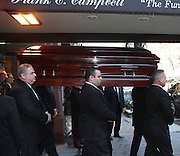 Feb. 7, 2014 - New York, New York, U.S. - <br /> <br /> The casket for actor Philip Seymour Hoffman leaves the Frank E. Campbell Funeral Home on the Upper East Side. Hoffman died of a suspected heroin overdose on February 2. <br /> ©exclusivepix