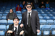 Bury fans dressed as the Blues brothers during the EFL Sky Bet League 1 match between Southend United and Bury at Roots Hall, Southend, England on 30 April 2017. Photo by Matthew Redman.