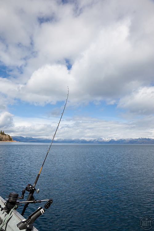 """Fishing Pole at Lake Tahoe 3"" - This fishing pole was photographed on the West shore of Lake Tahoe."