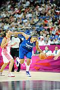 DESCRIZIONE : Basketball Jeux Olympiques Londres Demi finale<br /> GIOCATORE : NDongue Emmeline<br /> SQUADRA : France  FEMME<br /> EVENTO : Jeux Olympiques<br /> GARA : France Russie<br /> DATA : 09 08 2012<br /> CATEGORIA : Basketball Jeux Olympiques<br /> SPORT : Basketball<br /> AUTORE : JF Molliere <br /> Galleria : France JEUX OLYMPIQUES 2012 Action<br /> Fotonotizia : Jeux Olympiques Londres demi Finale Greenwich Northwest Arena<br /> Predefinita :