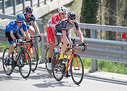 16.04.2018, Folgaria, ITA, Tour of the Alps, Italien 1. Etappe Arco nach Folgaria im Bild Marco Friedrich (AUT, Tirol Cycling Team) führt die Ausreissergruppe an // during the Tour of the Alps 1st stage from Arco to Folgaria, Italy on 2018/04/16. EXPA Pictures © 2018, PhotoCredit: EXPA/ Reinhard Eisenbauer