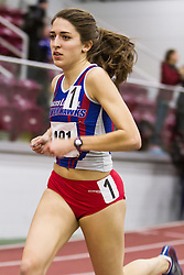 Boston University Multi-team indoor track & field, women's one mile, heat 1, UMass Lowell 491