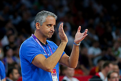 Igor Kokoskov, coach of Slovenia during basketball match between National Teams of Slovenia and Spain at Day 15 in Semifinal of the FIBA EuroBasket 2017 at Sinan Erdem Dome in Istanbul, Turkey on September 14, 2017. Photo by Vid Ponikvar / Sportida