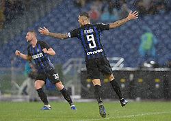 October 29, 2018 - Italy - Mauro Icardi celebrates after goal 0-2 during the Italian Serie A football match between S.S. Lazio and Inter at the Olympic Stadium in Rome, on october 29, 2018. (Credit Image: © Silvia Lor/Pacific Press via ZUMA Wire)
